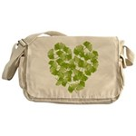 Ginkgo Leaf Heart Messenger Bag