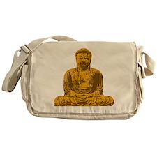Buddha Graphic Messenger Bag