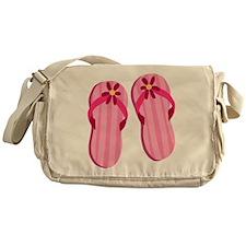 Pink Flip Flops Messenger Bag