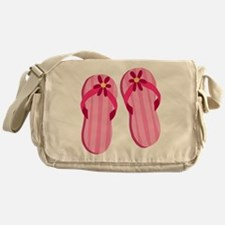 Pink Flip Flops Messenger Bag