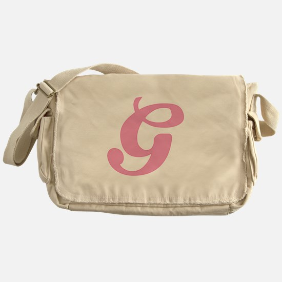 G Initial Messenger Bag