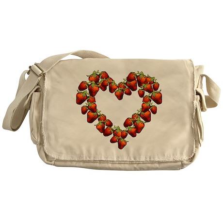 Strawberry Heart Messenger Bag