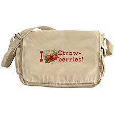 I Love Strawberries Messenger Bag
