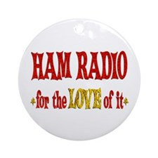 Ham Radio Love Ornament (Round)