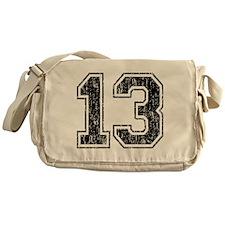 Retro 13 Number Messenger Bag