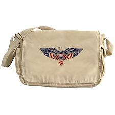Eagle and American Flag Messenger Bag