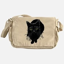 Black Cat Messenger Bag