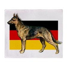 Alsatian German Shepherd Throw Blanket