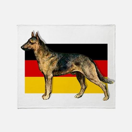 Alsatian German Shepherd Throw Blanket