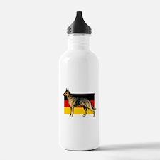 Alsatian German Shepherd Water Bottle