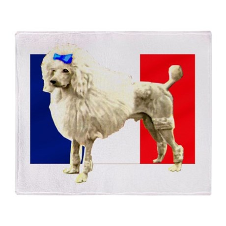 French Poodle Throw Blanket