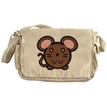 Brown Mousie Messenger Bag