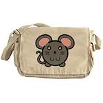 Gray Mousie Messenger Bag