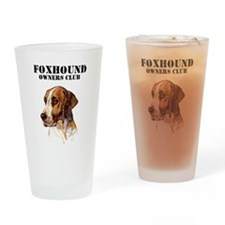 Foxhound Owners Club Drinking Glass