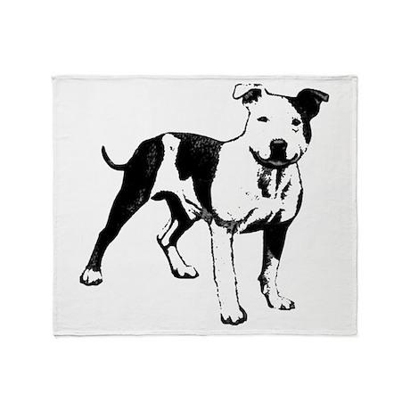 Bull Terrier Throw Blanket