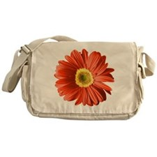 Pop Art Red Gerbera Daisy Messenger Bag