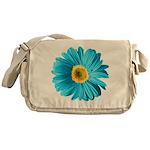 Pop Art Blue Daisy Messenger Bag