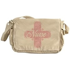 Nurse Pink Lacy Cross Messenger Bag