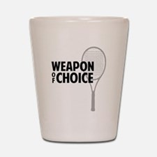 Tennis - Weapon Shot Glass