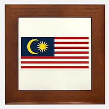 Malaysian Flag Framed Tile
