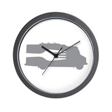 Food Truck: Side/Fork (Gray) Wall Clock