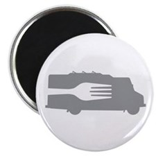 "Food Truck: Side/Fork (Gray) 2.25"" Magnet (100 pac"