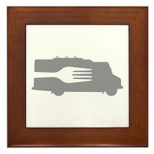 Food Truck: Side/Fork (Gray) Framed Tile