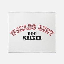 Worlds Best Dog Walker Throw Blanket