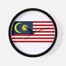 Malaysian Flag Wall Clock