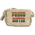 GLBT Rainbow Proud Sister Messenger Bag