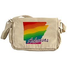 Gay Pride Rainbow Arkansas Messenger Bag