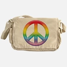 Rainbow Peace Sign Messenger Bag