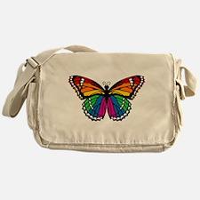 Rainbow Butterfly Messenger Bag