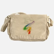 Dove with Rainbow Ribbon Messenger Bag