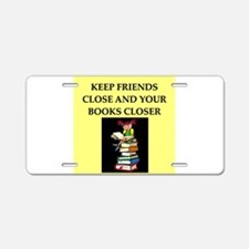 book lovers joke Aluminum License Plate