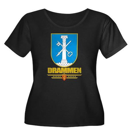 Drammen Women's Plus Size Scoop Neck Dark T-Shirt