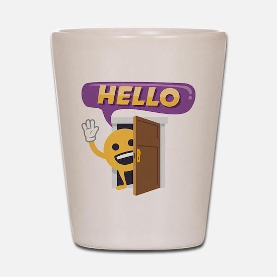Hello Shot Glass