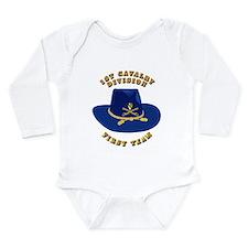 Army - 1st Cav - 1st Team Long Sleeve Infant Bodys
