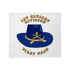 Army - 1st Cav - 1st Team Throw Blanket