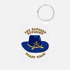 Army - 1st Cav - 1st Team Keychains