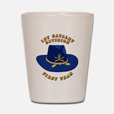 Army - 1st Cav - 1st Team Shot Glass