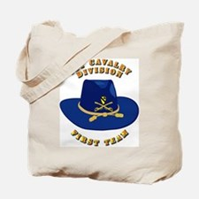 Army - 1st Cav - 1st Team Tote Bag