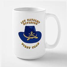 Army - 1st Cav - 1st Team Large Mug