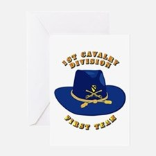 Army - 1st Cav - 1st Team Greeting Card