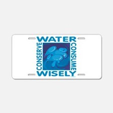 Water Conservation Aluminum License Plate