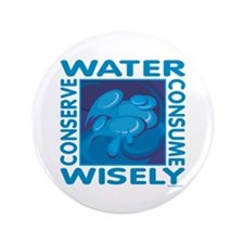 """Water Conservation 3.5"""" Button (100 pack)"""