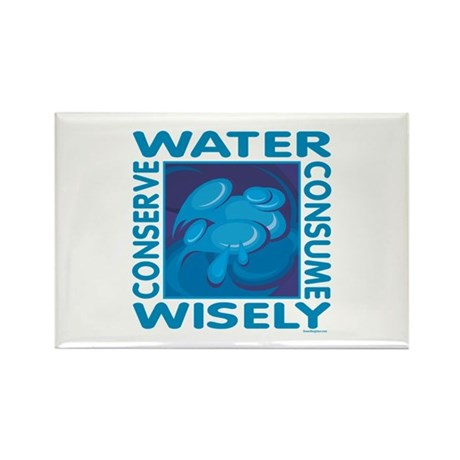 Water Conservation Rectangle Magnet (100 pack)