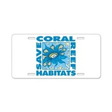 Save Coral Reefs Aluminum License Plate