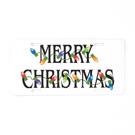 Merry Christmas Aluminum License Plate