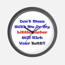 Little Sister Kick Yours Wall Clock